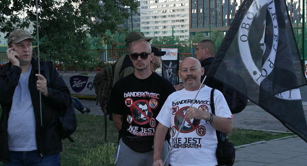 Akcja protestacyjna przeciwko wystąpieniu ukraińskiego zespołu  Od Vinta