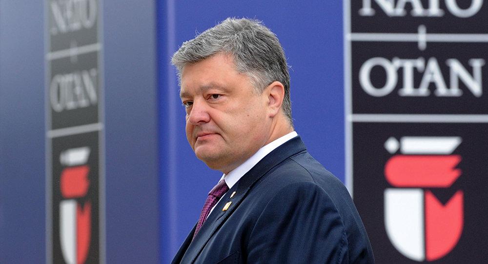 Prezydent Ukrainy Petro Poroszenko na szczycie NATO w Warszawie