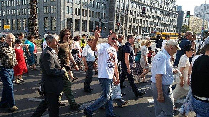 Marsz i Apel Wołyński, ulicami Warszawy