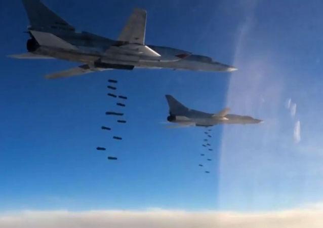 Naloty rosyjskiego lotnictwa na pozycje PI