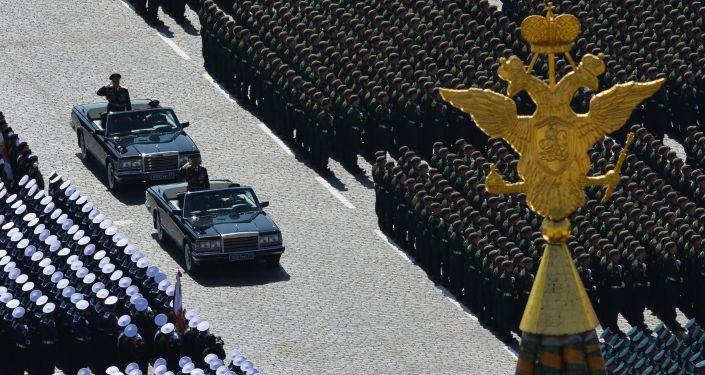 Parada zwycięstwa na Placu Czerwonym w Moskwie, 9 maja 2015 r.