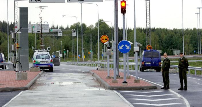 Punkt kontrolny na granicy rosyjsko-fińskiej