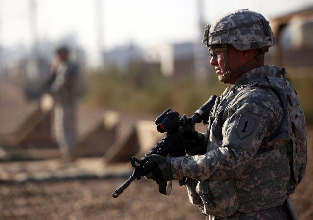 Amerykański żołnierz w Iraku, Bagdad, 29 grudnia 2014