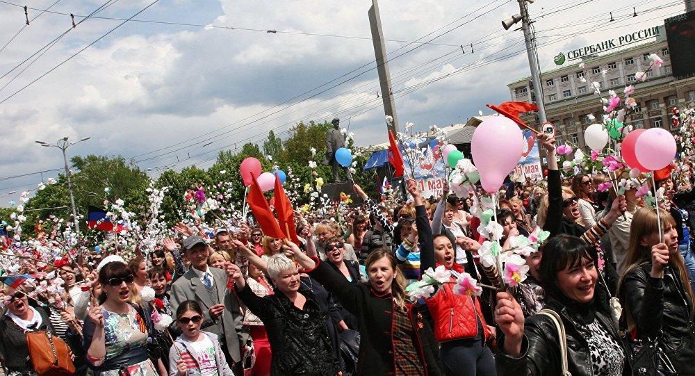 Obchody Dnia Republiki w Doniecku