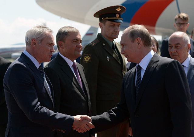 Prezydent Rosji Władimir Putin z wizytą w Słowenii