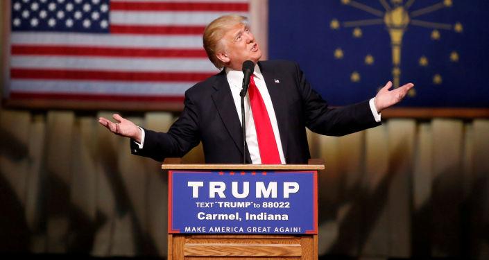 Kandydat republikanów na prezydenta USA Donald Trump