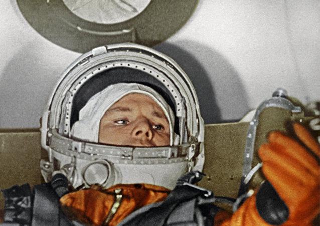 Kosmonauta Yuriy Gagarin.