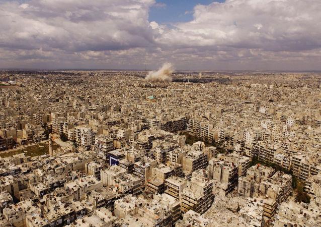 Widok na Aleppo