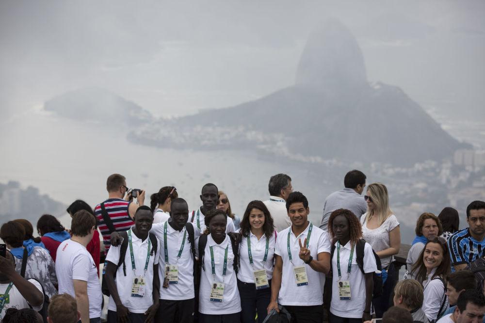 Członkowie reprezentacji olimpijskiej uchodźców w Rio de Janeiro