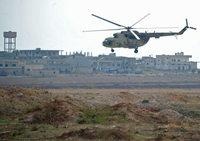 Śmigłowiec syryjskich sił powietrznych