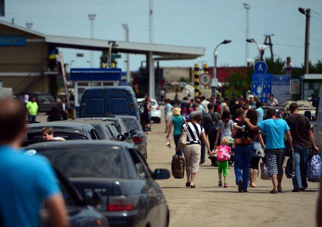Uchodźcy na granicy obwodu ługańskiego