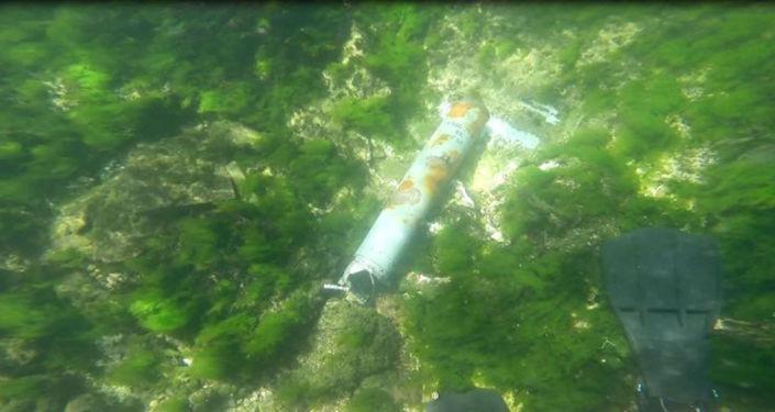 Z Zatoki Sewastopolskiej wydobyto lotniczą bombę głębinową