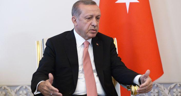 Spotkanie prezydentów Rosji i Turcji Władimira Putina i Recepa Tayyipa Erdogana w Petersburgu