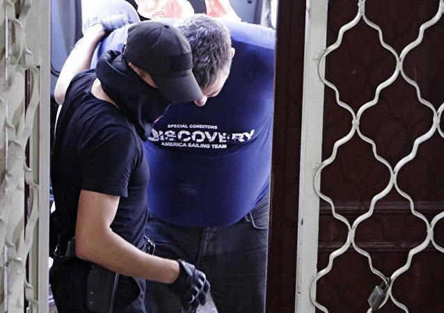 Kijowski sąd rejonowy Symferopola aresztował podejrzanego o organizowanie ataków terrorystycznych na terytorium Krymu Jewgienija Panowa.
