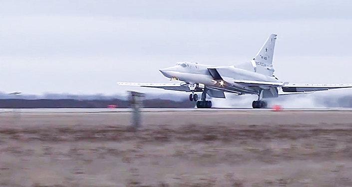 Rosyjski bombowiec dalekiego zasięgu Tu-22 M3.