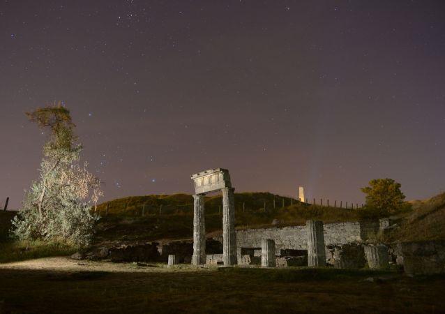 Ruiny starożytnego miasta Pantikapajon w Kerczu
