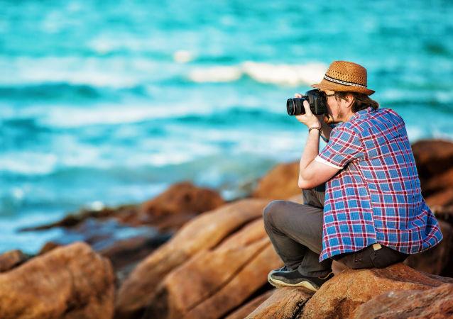 Fotograf na plaży