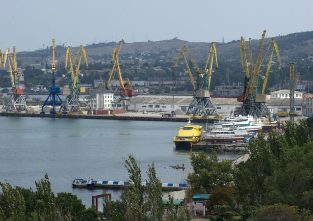 Widok na port morski Teodozja