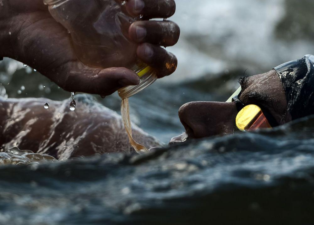 Oussama Mellouli na dystansie 10 km w otwartej wodzie na XVI mistrzstwach świata w sportach wodnych w Kazaniu