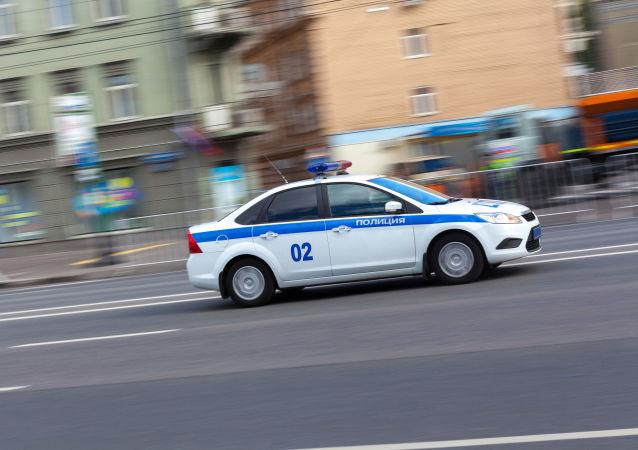 Radiowóz na ulicach Moskwy