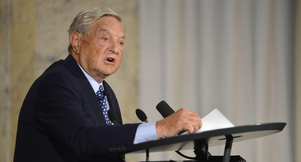 Amerykański miliarder George Soros podczas konferencji w Berlinie