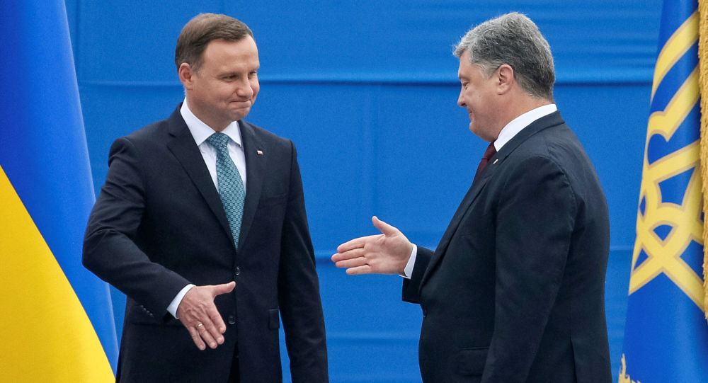 Petro Poroszenko i Andrzej Duda