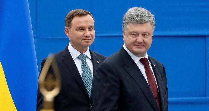 Prezydenci Andrzej Duda i Piotr Poroszenko