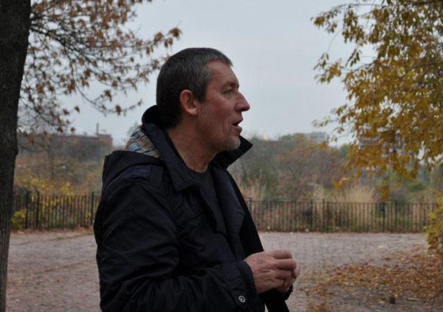 Dziennikarz Aleksander Szczetinin w Kijowie