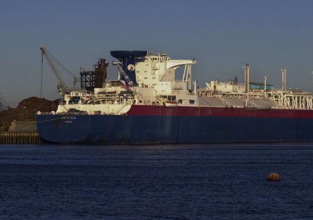 Amerykański tankowiec do przewozu skroplonego gazu ziemnego w Massachusetts