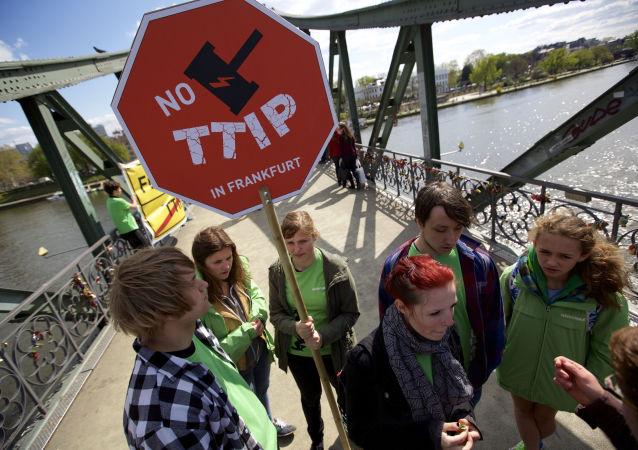Protest przeciwko TTIP w Niemczech