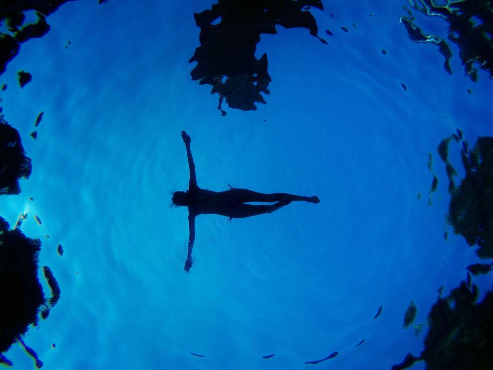 Kobieta w basenie, Madryt
