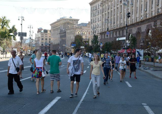 Ulica Chreszczatyk w Kijowie