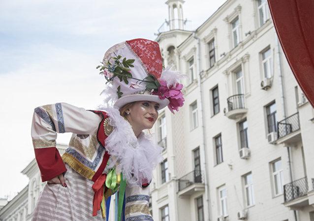 Dzień Miasta Moskwy, ulica Twerskaja.