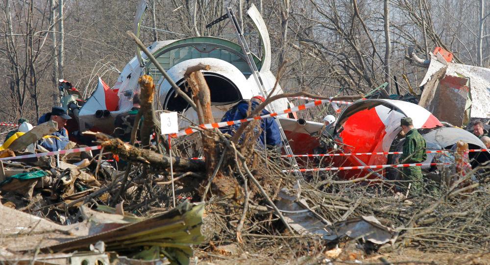 Miejsce katastrofy prezydenckiego Tu-154 pod Smoleńskiem