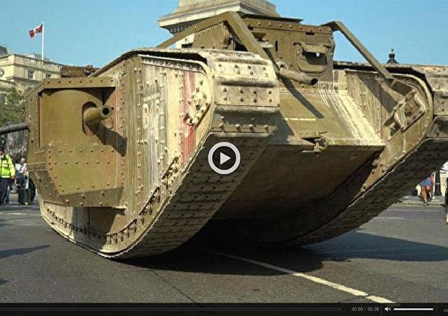 Replika czołgu z czasów I WŚ