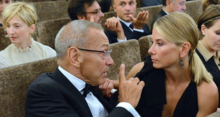 Reżyser Andriej Konczałowski i jego żona - aktorka Julia Wysocka.
