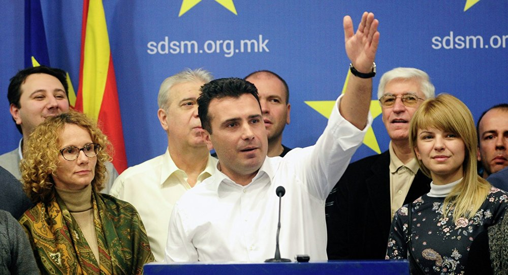 Przewodniczący Socjaldemokratycznej Unii Macedonii Zoran Zaew