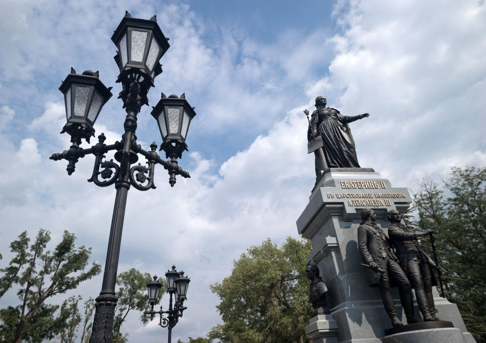 Pomnik rosyjskiej cesarzowej Katarzyny II zainstalowana w Symferopolu