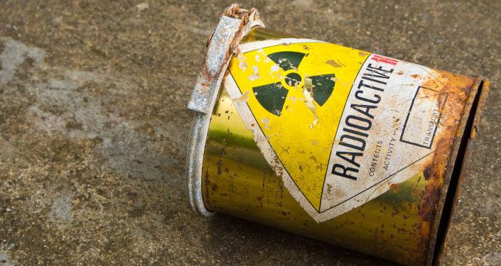 Pojemnik z radioaktywną substancją