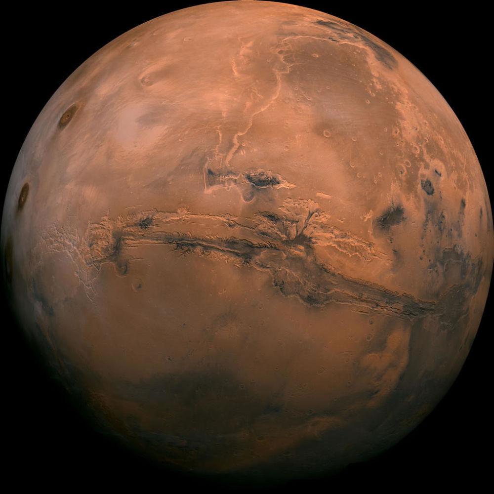 Widok z kosmosu na Doliny Marinera na Marsie