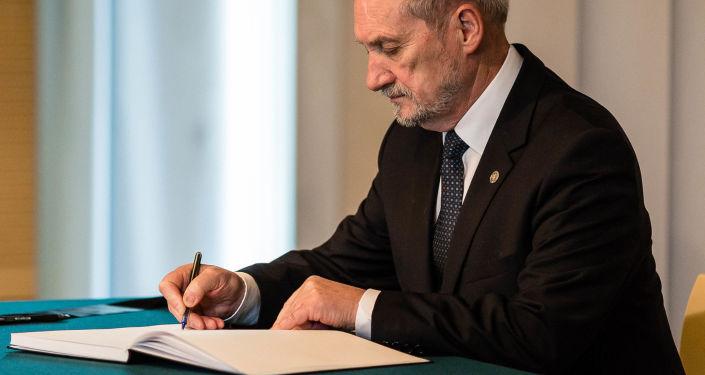 Minister obrony narodowej Polski Antoni Macierewicz