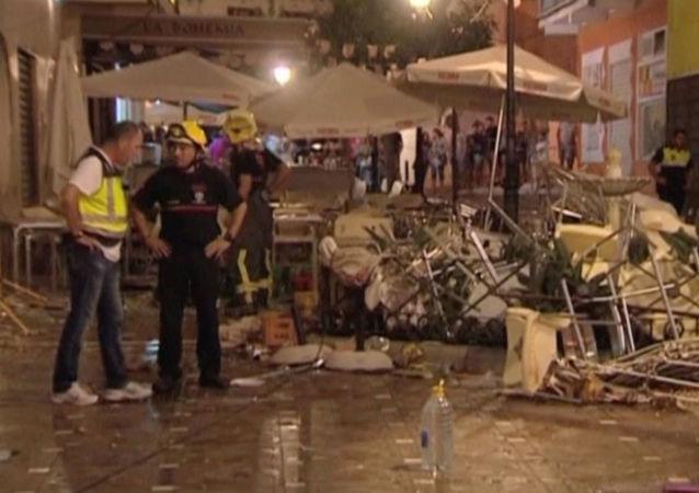 Hiszpania: 90 rannych w wyniku eksplozji butli z gazem w kawiarni