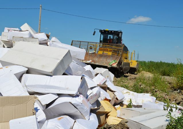 Niszczenie produktów objętych sankcjami w obwodzie biełgorodzkim