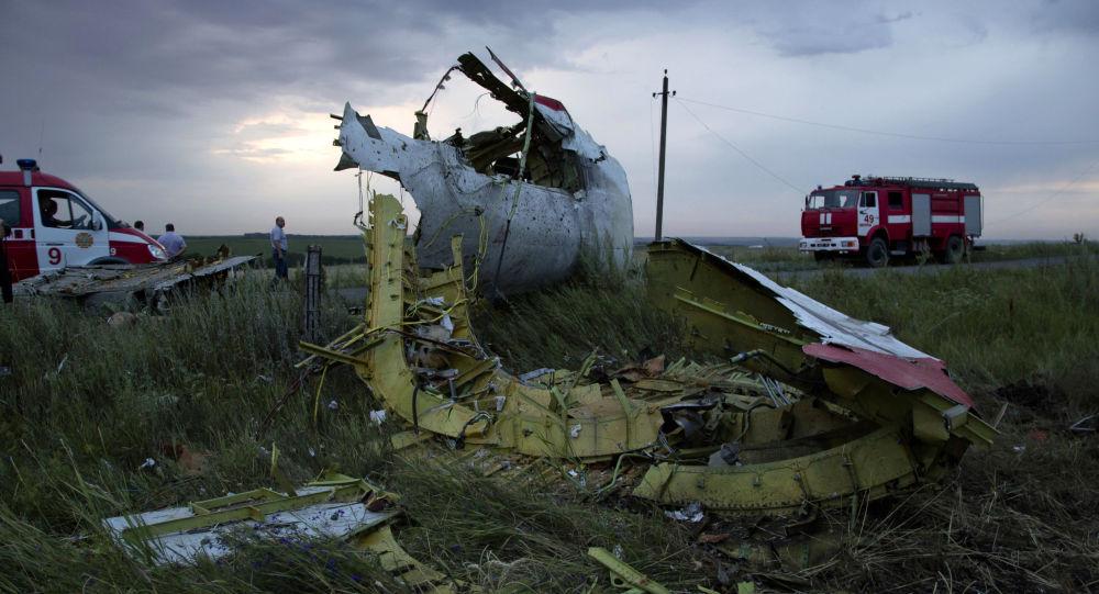 Miejsce katastrofy malezyjskiego Boeinga 777, wykonującego lot MH17, w obwodzie donieckim
