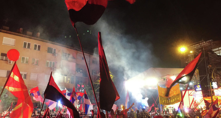 Mass protests in Macedonia