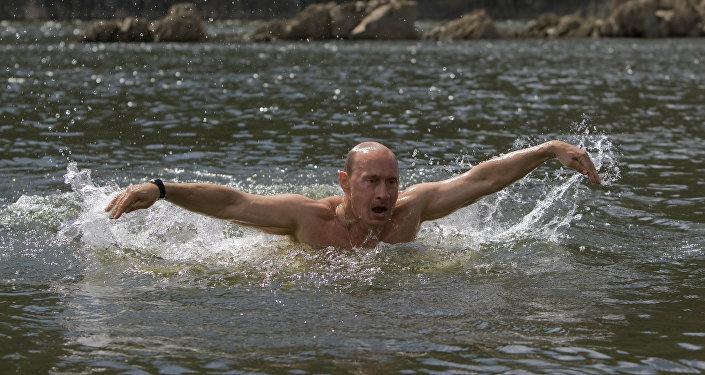 Władimir Putin na odpoczynku. 2009 rok