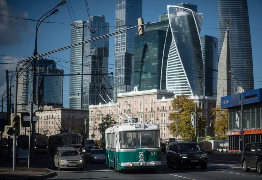 Święto moskiewskich trolejbusów w Moskwie