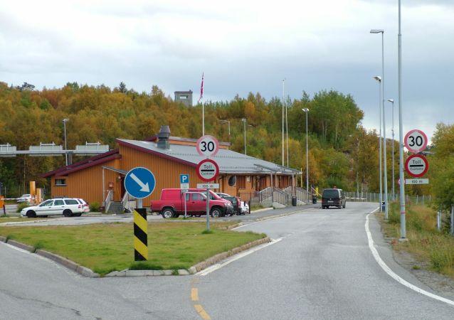 Przejście graniczne Storskog w Norwegii na granicy z Rosją