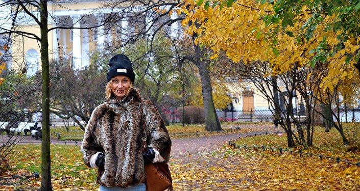 Jesienna wizyta w Petersburgu (zaznaczam, że futerko jest sztuczne).