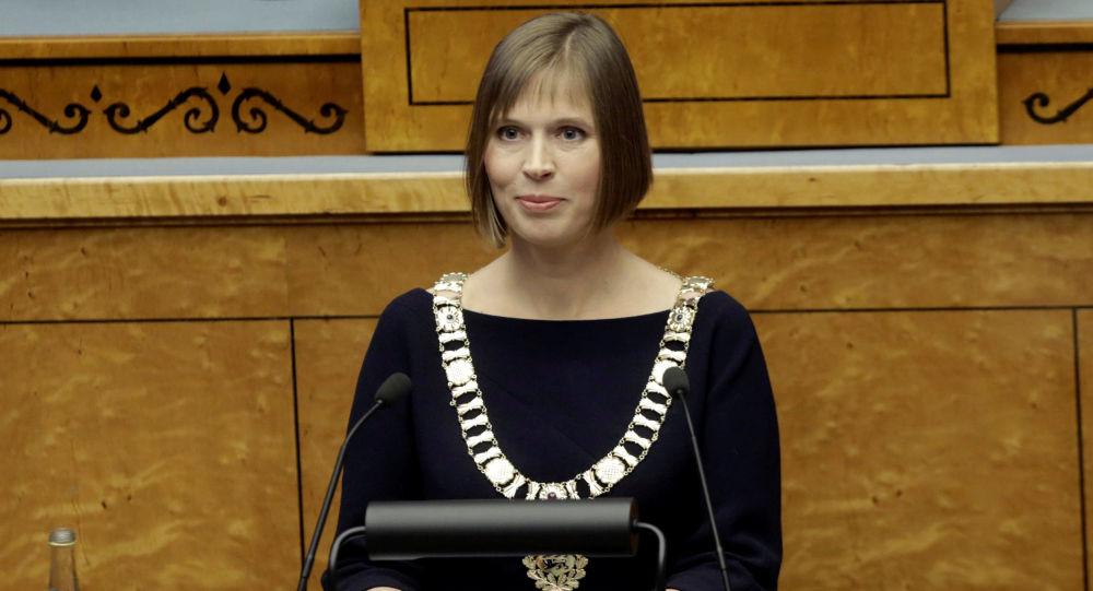 Prezydent Estonii Kersti Kaljulaid w Tallinnie